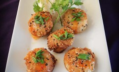 Sesame Seared Scallops