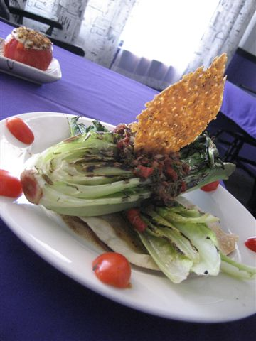 Grilled Hearts of Romaine Caesar