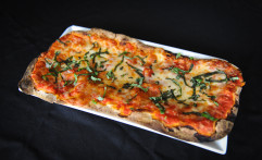 Basil and Fontinella Flatbread